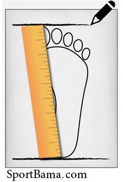 اندازه گیری طول پا، نحوه محاسبه سایز پا، سایز کفش