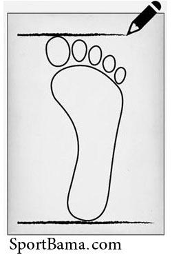 اندازه گیری طول پا، نحوه محاسبه سایز پا، سایز پا