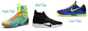 انواع کفش بسکتبال