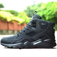 کتانی رانینگ نایک هوراچی ساق بلند مشکی nike Huarache high top leather 829868-009