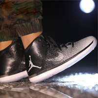 'کفش بسکتبال نایک ایرجردن basketball shoe air jordan 31 fine print black white wolf grey 845037-003'