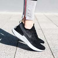 کفش کتانی رانینگ نایک فلای کینت     Nike Epic Flyknit Black White