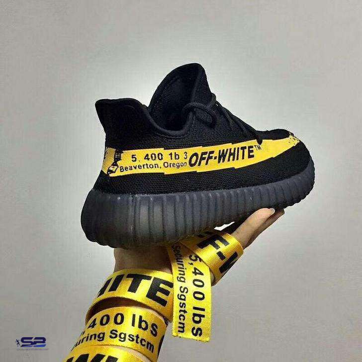 خرید  کفش-کفش رانینگکتانی رانینگ ادیداس ایزی      Adidas Yeezy 350 V2 Black Yellow