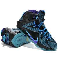 'کفش بسکتبال نایک لبرون12 nike lebron 12 xii black university blue purple 684593 -019'