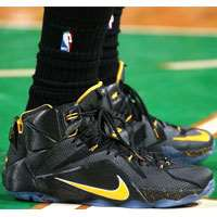 'کفش بسکتبال نایک لبرون12  basketball shoes nike lebron 12 black yellow 684593-501'