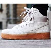 کفش نایک ایرفورس ساق دار سفید صدفی Nike Shoes Air force1 hi suede 749266-200
