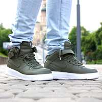 کفش نایک ایرفورس ساق دار سبز لجنی classic shoes nikelab AirForce1 mid  819677-300 green