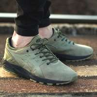 'کتانی رانینگ اسیکس ژل asics gel kayano trainer h620l-8585 light olive'