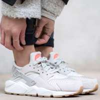 کتانی رانینگ نایک هوراچی  nike huarache run textile lighte bone 818597-001