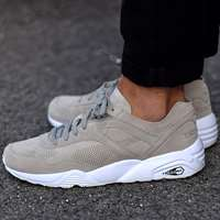 'کفش کتانی رانینگ پوما  Running Puma Shoes r698soft grey trinomic 360104-02'