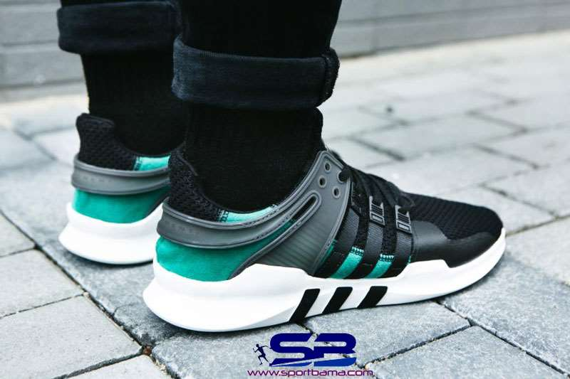 خرید  کفش-کفش رانینگکفش کتانی ادیداس اکویپمنت  adidas eqt support 93 primeknit black green white s81495